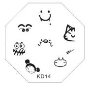 Nail Art Stamping Image Plate KD14