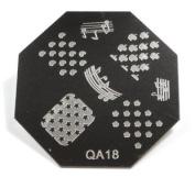 Nail Art Stamping Image Plate QA16
