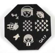 Nail Art Stamping Image Plate QA17