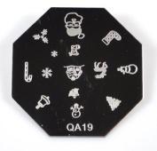 Nail Art Stamping Image Plate QA19