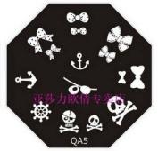 Nail Art Stamping Image Plate QA5