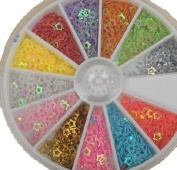 WIIPU mini star 2400 Piece 12 Colour Nail Art Nailart Manicure Wheels