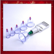 Brand New Chinese Medical Body Cupping Set w/ 6 Magnets Point B0260