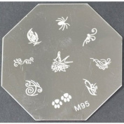 Nail Art Stamping Plate - M95 CODE