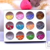 Ostart 12 Colour Fashion Nail Art Hollow Peach Heart Tips Decoration