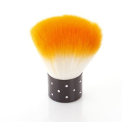 Nail Art Dust Brush Cosmetic Cheek Make up Cleaner NEW Orange Bs-30-orange