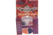 Art Club Bewitching Halloween Orange, Black, Silver Nail Art Gems