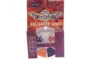 Art Club Bewitching Halloween Orange, Black, Silver Nail Art Gems