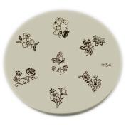 Konad Stamping Nail Art Image Plate - M54
