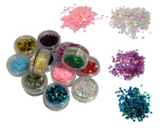 Premium Nail Art Nailart Manicure Glitter Confetti Shapes for 3D Designs