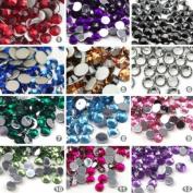 3000 Round Rhinestones in Case for Nail ART Gems