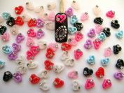 Nail Art 3d 40 Mix HEART for Nails, Cellphones