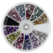 Premium MASH 1200 Piece 12 Colour Nail Art Nailart Design Butterfly Shape Rhinestones