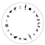 Design Wheel - Western Nail Master Stencil Shield
