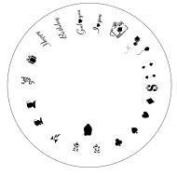 Design Wheel-Spec Occas,Vegas Nail Master Stencil Shield