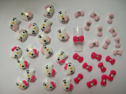 Nail Art 3d 40 Mix KITTY/BOW /RHINESTONE for Nails, Cellphones A-3