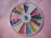 240 pcs 3D FIMO Slice Flower Nail Art Decoration ;Plus a Free Gift CellPhone Anti-Dust Plug