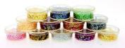 MASH Premium Nail Art Nailart Manicure Glitter Confetti Shapes for 3D Designs