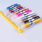 12 Colour 3d Paint Nail Art DIY Polish Pen Uv Gel Acrylic Tips Set Salon Beauty