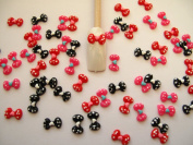Nail Art 3d 60 Mix Pokkadots BOW for Nails, Cellphones