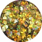 erikonail Hologram Round 2mm Holo Gold Sparkle ERI-72