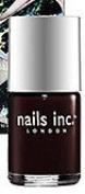 nails inc. London Chelsea Plum Black Nail Polish, NEW