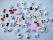 Nail Art 3d 70 Mix Kitty / Bow for Nails, Cellphones 1.2cm