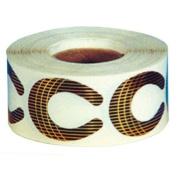 STAR NAIL Black/Gold Nail Forms Med 500-ct.