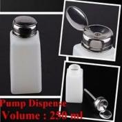 2pc 250ML Pump Dispenser Bottle Nail Art Makeup Tool J0212-3
