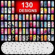 10 Airbrush Nail Art Stencil Sheet Pattern Set Page 1-10