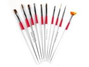 10pcs painting pen brush For nail art design tool Fashion Set