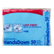 50 Sheets Graham Professional Beauty Products Blue Hands Down Salon Nail Towels