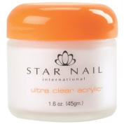STAR NAIL Ultra Clear Acrylic Powder Clear 45ml