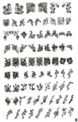Nail Art Stamping XL- E Image Plate