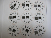 Nail Art 22 Stamping Image Plate H Series French & Full Nails H1- 22