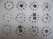 Nail Art 24 Stamping Image Plate H Series French & Full Nails H23- 46