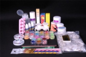 350buy Pro Full Primer 24 Acrylic Powder UV Liquid Nail Art Tip Pens Brush Kits Set