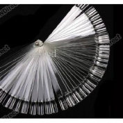 Art Board Tips Stick Polish Foldable Display Fake Nail Transparent Fan - 50pcs - Two Sets