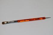 Osaka French Gel Nail Brush + Dotting Tool (Orange Acrylic Handle) Size # 6, Japan