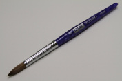 Kyoko Finest 100% Pure Kolinsky Brush, Size # 8, Made in Japan, Blue Marble Handle
