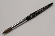 Ma Cherie Finest 100% Pure Kolinsky Brush, Size # 8, France, Black Marble Handle