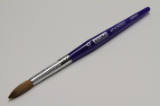 Kyoko Finest 100% Pure Kolinsky Brush, Size # 10, Made in Japan, Blue Marble Handle