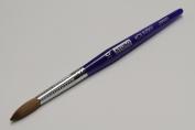 Kyoko Finest 100% Pure Kolinsky Brush, Size # 10, Made in Japan, Blue Marble Handle