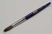 Kyoko Finest 100% Pure Kolinsky Brush, Size # 12, Made in Japan, Blue Marble Handle