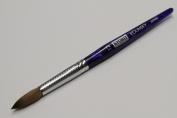 Kyoko Finest 100% Pure Kolinsky Brush, Size # 12, Made in Japan, Blue Marble Handle