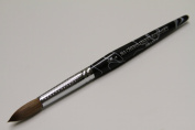 Ma Cherie Finest 100% Pure Kolinsky Brush, Size # 12, France, Black Marble Handle