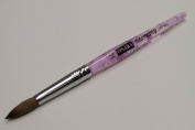 Osaka Finest 100% Pure Kolinsky Brush, Size # 10, Made in Japan, Acrylic Purple Handle
