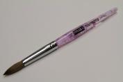 Osaka Finest 100% Pure Kolinsky Brush, Size # 10, Made in Japan, Acrylic Purple Handle