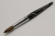 Ma Cherie Finest 100% Pure Kolinsky Brush, Size # 14, France, Black Marble Handle