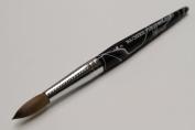 Ma Cherie Finest 100% Pure Kolinsky Brush, Size # 14, France, Black Marble Handle